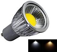 JIAWEN® Dimmable GU10 5W 1XCOB 450LM 3000-3200K/6000-6500K Warm White/Cool White LED Spot Lights (AC 100-240V)