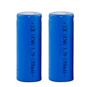 3.7V Rechargeable 1700mAh 18500 Lithium Ion  Battery (2pcs)
