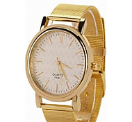 Female Golden Alloy Mesh Belt round Steel Chinese Movement Watch