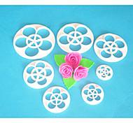 FOUR-C Cake Cutter,Rose Leaf Fondant Cutter Set,Fondant Tools Cake Decorating Tools,Cake Cutter Mould 7PCS/Set