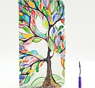 The Tree of Life Pattern PU Leather Case Cover with A Touch Pen ,Stand and Card Holder for iPhone 6