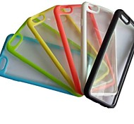 IceBox Clear PC with Color TPU Edge Soft Case for iPhone 6 (Assorted Colors)