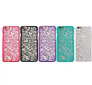 Transparent China Wind Lily Reliefs Back Cover for iPhone 6 Case (Assorted Color)