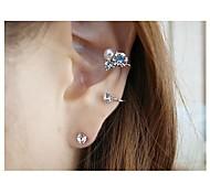 Fashion Lady Diamond Lovely Heart Clip Earring 1PC