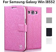 Samsung Galaxy Win I8552 compatible Solid Color PU Leather Full Body Cases/Cases with Stand(Assorted Color)