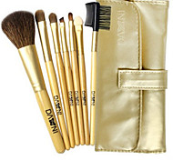 7 Makeup Brushes Set Goat Hair Face / Lip / Eye DANNI