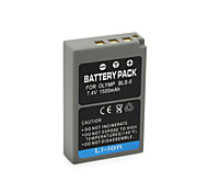 Batteria - Ioni di litio - BLS5 - for Olympus E-System Pen Digital E-P3, E-PL2, E-PL3, E-PM1 1500mAh - ( mAh ) - 7.4V - ( V )