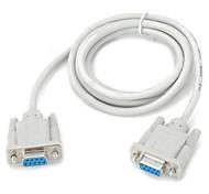 1.4m 4ft db9 RS232 Stecker auf Buchse serielle Schnittstelle Linienerweiterung für PC - off-white