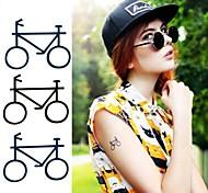 Cartoon Bicycle Tattoo Stickers Temporary Tattoos(1 Pc)
