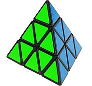 Triangular 4-Color Pyraminx Pyramid IQ Magic Cube - Black Base