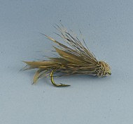 Mosche / Esca Mosche 0.2g g / <1/18 Oncia mm pollice 12pcs pc Pesca a mosca , Marrone