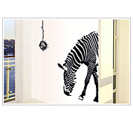 Fashion Environmental Removable Zebra Pattern PVC Wall Sticker