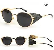 Mirrored Women's Round Metal Fashion Sunglasses