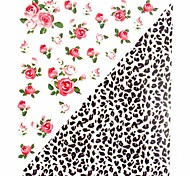 1PC New Design 3D Nail Art Stickers Nail Wraps Nail Decals Leopard Print Flower Nail Polish Decorations