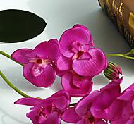 "23"" Long Fabric Butterfly Ochird Set of 3 Purple Color"