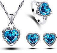 Women's Jewelry Sets Heart Handmede 3pcs Jewelry Sets