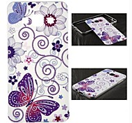Metal Frame Full Embossment Butterfly Pattern Hard  Hard Case for Samsung Galaxy A7 (Assorted Colors)