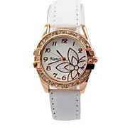 Women's 2015 Newest Charm Watch Quartz Analog Leopard Flower Pattern Diamond Rhinestone Lady Girls Gift