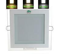 zweihnder fiação 12w 950lm 3000-7000k 48x5730 SMD LEDs 3 modos de luz de teto quadrado escurecimento inteligente (AC 85-265V)