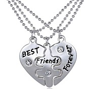 2015 Combination Of Friendship Are Short Paragraph Clavicle Chain Pendant Necklace