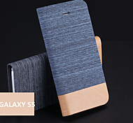 Jeans PU Holder Mobile Phone Case for Samsung Galaxy S5 I9600