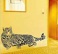 Environmental Removable Cheetah Shaped PVC Wall Sticker