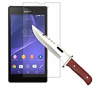 HUYSHE High Definition Anti Scratch Water Proof Anti-Fingerprint Tempered Glass Screen Protector for Sony Xperia T3
