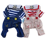 Navy Stylish Fashionable Cotton Overalls for Pets Dogs (Assorted Colors and Sizes)