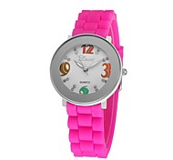 Women's Bracelet Watch Quartz Analog Sports Militray Men Silicone Unisex Wristwatch