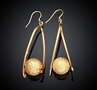 Fashion Design Women's Gold-Plated Drop Earrings (1 Pair)
