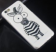 Cartoon Zebra Pattern Design Plastic Hard Back Cover for iPhone 6