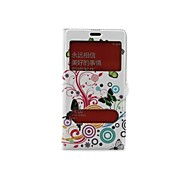 Double Window Color The Circle Butterfly Pattern PU Leather Full Body Case with Stand Slot for  Xiaomi RedMi Note