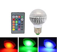 1 pcs E27 10W 3X 72LM RGB Remote-Controlled Globe Bulbs AC 220V