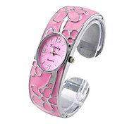 Women's Quartz Analog Bracelet Watch Oval Stainless Steel Band Water Proof Casual Gift
