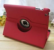 360⁰ Cases ( Cuir PU , Rouge/Bleu ) - Couleur unie pour Pomme iPad 2/iPad 4/iPad 3