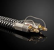 JSJ® Toslink-Toslink Audio Digital Fiber Optic-Lines Gold-Plating(OD8.0MM 3M 9.84FT)