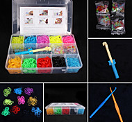 BaoGuang®Fashion Loom Set (3000pcs Rubber Bands,4 Package Clips,1 Looms ,3 Hook+1Box)