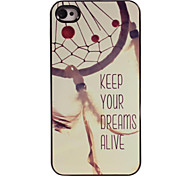 Keep Your Dreams Alive Design Aluminum Hard Case for iPhone 4/4S