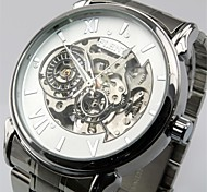 Men's Military Watch Automatic Self Wind Analog Water Resistant/Hollow Engraving