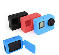 Soft Rubber Protective Silicone Case Skin with Flip Cover for GoPro Hero 4 Camera