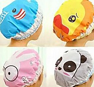Waterproof PVC Material Cartoon Pattern Shower Cap(Random Pattern)
