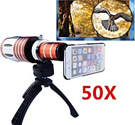 Apexel Telescope 50X Zoom Telephoto Manual Focus Long Focal Camera Lens for iPhone 6 with Back Cover Case and Tripod