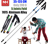 1pc NH Telescopic Folding Alpenstocks 7075 Aluminum Alloy Walking Stick Ultralight Trekking Pole Hiking Cane Camping