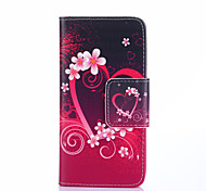 Heart Flowers Pattern PU Leather Full Body Case with Card Slots And Stand Case for Samsung S3 Mini I8190N