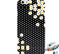 Sunflower Pattern TPU  Back Cover Case and Dust Plug for iPhone 6