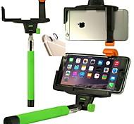 De draadloze Bluetooth Remote shutter-stick met mount klem en lens beschermende sticker voor iPhone 6 plus (assorti kleur)
