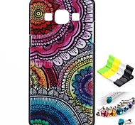 Faceplate Pattern Back Case and Anti-dust Plug and Stand for Samsung Galaxy A5