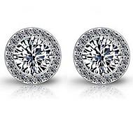 Earrings Cubic Zirconia With 10KT White Gold Women Stud Earrings Free Shipping