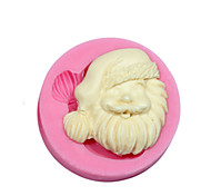 Christmas Theme Silicone Mold Silicone Santa Claus Candy Mold For Fondant Fimo Gum Paste & Soap Chocolate