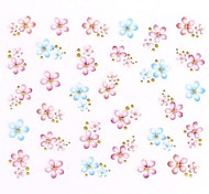 1PC 3D Cute Nail Art Stickers Nail Wraps Nail Decals Gold Flower Nail Polish Decorations